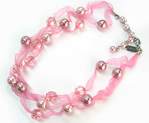 NA301PK: Pink Pearl Necklace