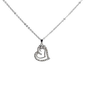NA305: Austrian Crystal Heart Necklace