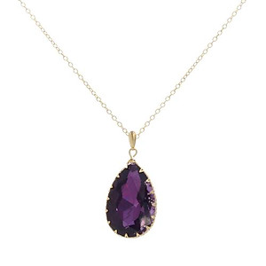 NA306: Amethyst Tear Drop Necklace