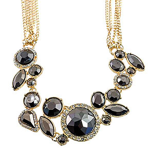 NA346: Elegant Chandelier Necklace & Earring Set