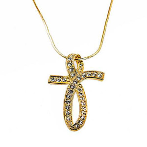 NA348: Stylized Cross Necklace