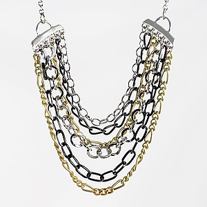 NA359: Multi Strand Chain Necklace