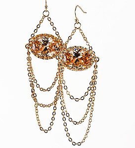 NC157: Topaz Chandlier Earrings