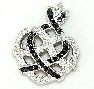 NC56: Sterling Silver CZ Heart Pendant
