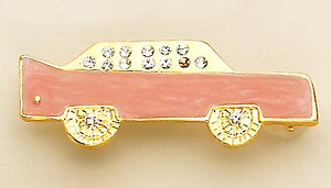 PA138: Pink Caddy Cadillac Car Pin or Tack