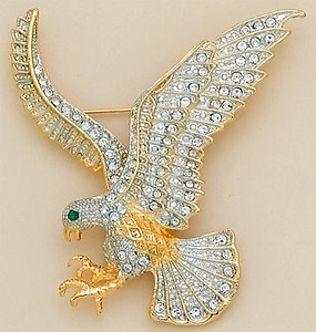 PA291: Austrian Crystal Eagle Pin
