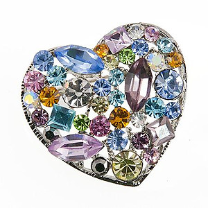 PA405: Multi-Color Heart Pin