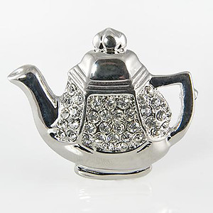 PA569: Silver Tea Pot Pin
