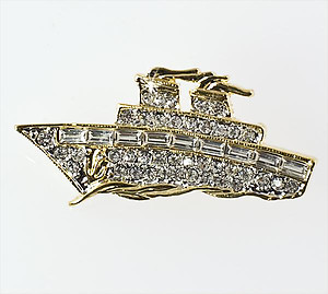 PA576: Crystal Ship Pin