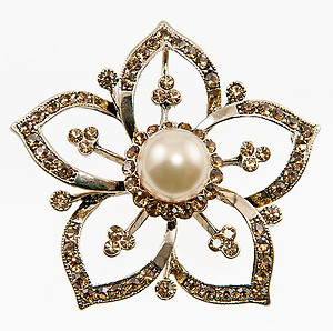 PA591: Floral Baroque Pin/Pendant