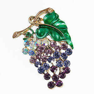 PA597: Crystal Grape Cluster Pin