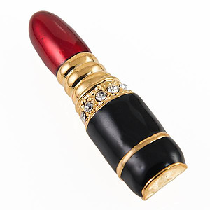 PA611: Lipstick Pin with Black Accents