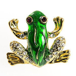 PA649: Emerald Green Frog PIn