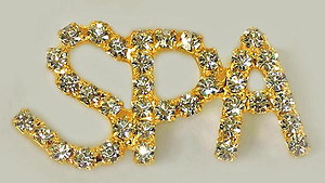 PA504: Spa Crystal Pin in Gold or Silver
