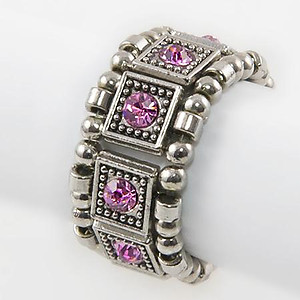 RA114: Yurmanesque Pink Stretch Ring