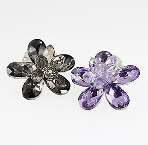 RA120: Austrian Crystal Floral Ring