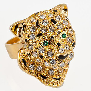 RA141: Leopard / Cheetah Adjustable Ring