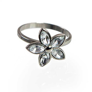 RA302: CZ Flower Ring