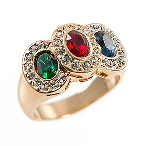 RA306: Jewel Tone CZ Ring
