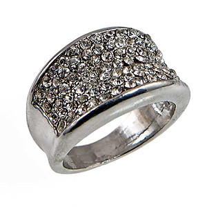 RA310: Barrel Pave Crystal Ring