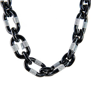 SN350: Black and Silver Necklace