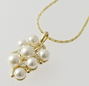 SNTPR159PR: Pearl Cluster Necklace