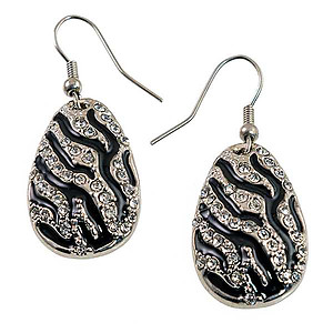 SNT241: Exotic Zebra Necklace and Earring Set