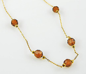 SNT93T: Topaz Austrian Crystal Necklace & Earrings Set