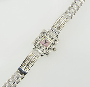 WA110: Crystal Square Watch