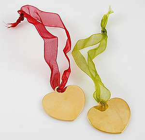 XM34: Heart Christmas Ornaments - 1 dozen