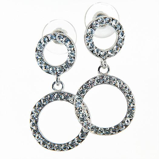 EA557: Crystal Circle of EXcellence Earrings