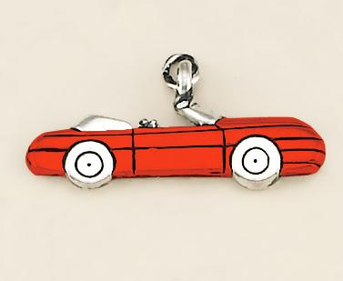 CH146: Red Car Charm in Gold or Silver