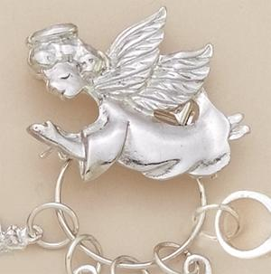 CHP011: Angel Charm Holder in Silver or Gold