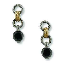 EA177: 2-Tone CZ Yurmanesque Earrings (Pink or Black)