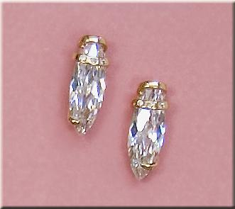 EA183: Designer Multi-Facetted CZ Earrings