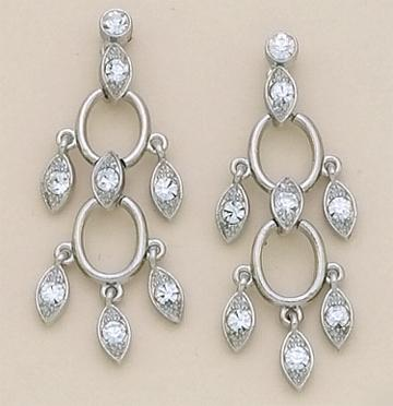 EA389S: Austrian Crystal Chandelier Post Earrings