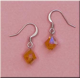 EA425T: Topaz Swarovski Octagon Earrings