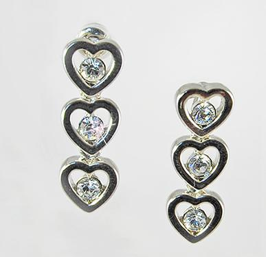 EA497: Tiffany Style Heart Earrings