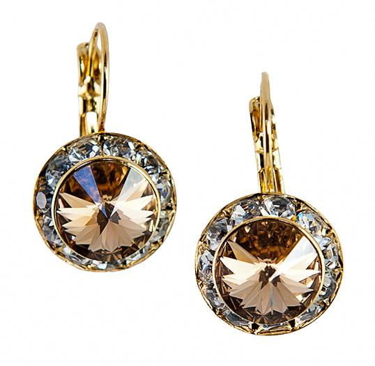 EA560T: Swarovski Topaz Earrings