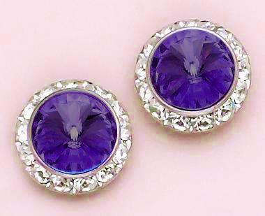 EA60AM: Amethyst / Purple Swarovski Crystal Earrings