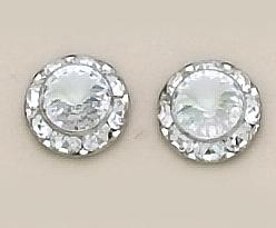 EA60C: Classic Clear Crystal Earrings