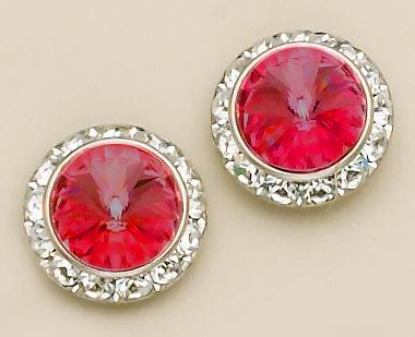 EA60R: Red Classic Swarovrski Crystal Earrings (S/M/L)