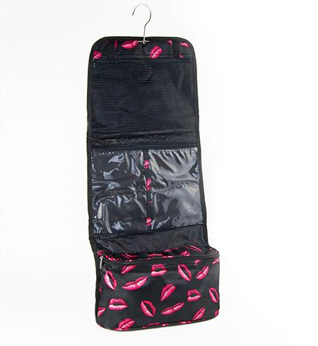 LL07: Lip Cosmetic Makeup/ Lingerie Travel Bag (Also in Pink & White Polka Dots)