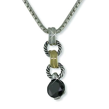 NA177: 2-Tone CZ Yurmanesque Necklace (Available in 3 Colors)