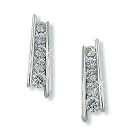 NC114: Tiffany Style CZ Earrings