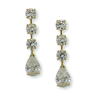 NC115: Elegant Pear Shaped CZ Earrings