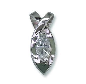 NC128: 12+Ct Pendant in Silver Rhodium Finish