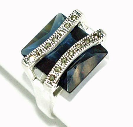 NC53: Jet Marcasite Ring
