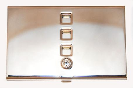 AB150: Silver Business Card Holder