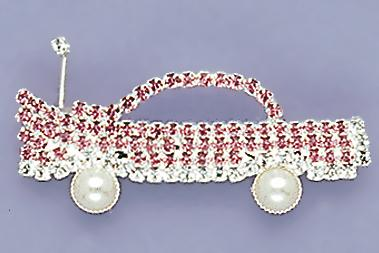 PA19: Austrian Crystal Pink Caddy Car Pin